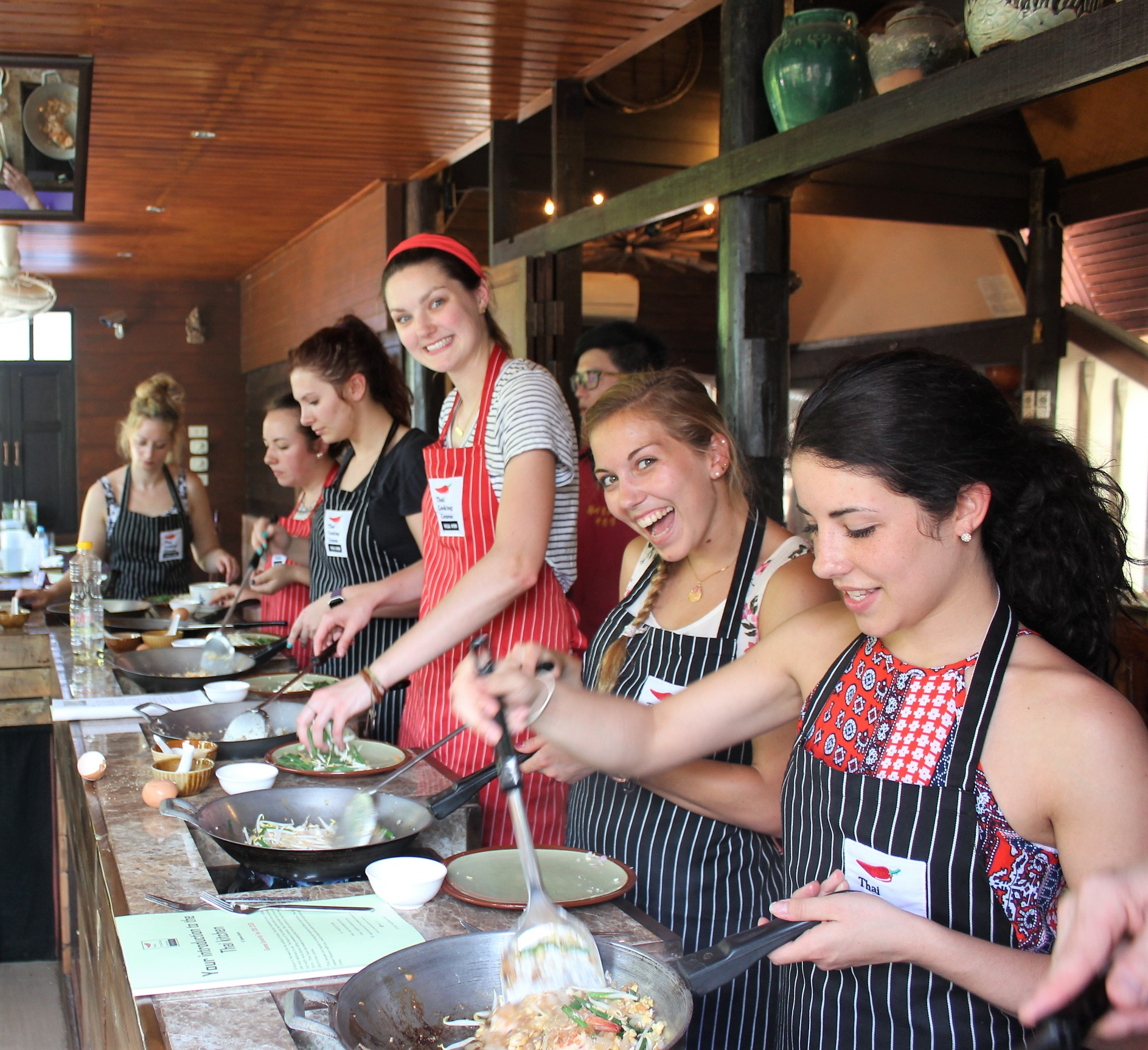Cooking Course in action